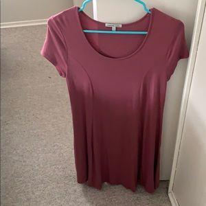 pink tee shirt dress, very beautiful!